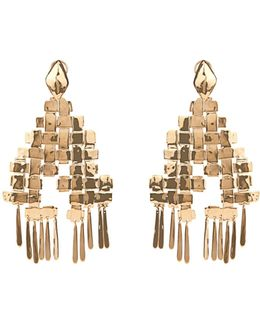 Marella Dangling Yellow-gold Plated Earrings