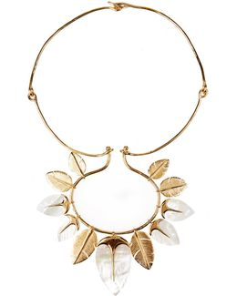 Talitha Mother-of-pearl & Gold-plated Necklace