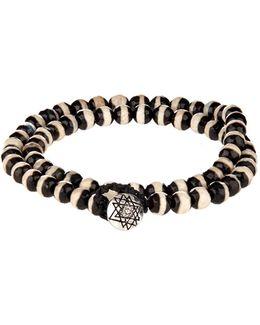 Bi-colour Bead And White-gold Bracelet