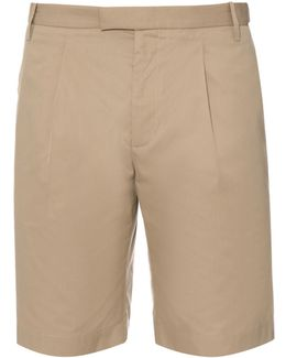 Tailored Cotton And Silk-blend Shorts