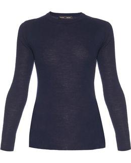 Open-back Long-sleeved Knit Sweater