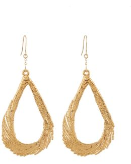 Swan Feather Yellow-gold Earrings
