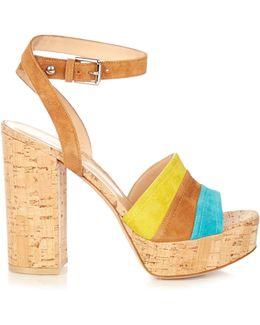 Block-heel Cork Sandals