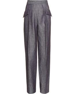 Straight-leg Cotton-twill Trousers