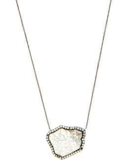Diamond Slice & White-gold Necklace