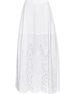 Penelope Broderie-anglaise Panel Maxi Skirt