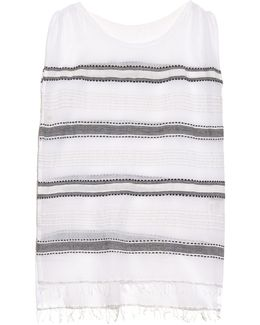Addis Multi-stripe Gauze Cover-up