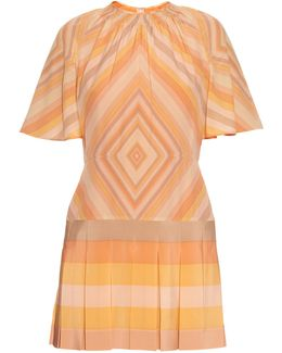 Native Couture 1975-print Silk-crepe Playsuit