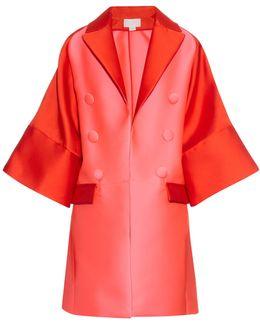 Bi-colour Satin Evening Coat