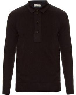 Layered Cotton-knit Polo Shirt