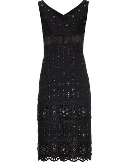 Broderie-anglaise Embellished Dress