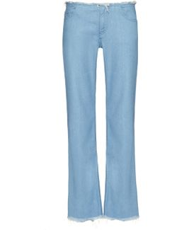 Frayed-edge Flared Jeans