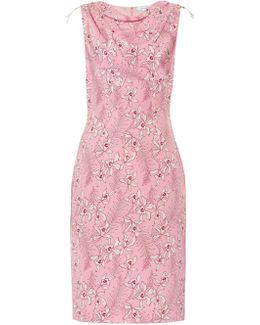 Floral-print Silk-mikado Dress