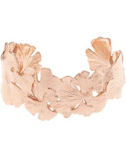 Ginkgo Rose Gold-plated Small Cuff