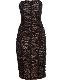 Ruched-Lace Dress