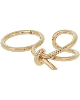 Asymmetric Bow Double Ring