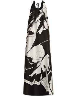 Printed Cotton And Silk-Blend Jacquard Gown