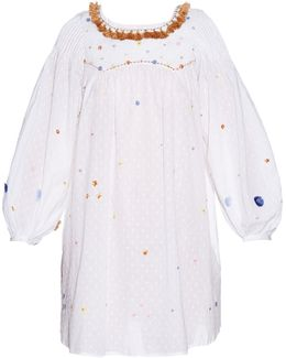 Poppy Embroidered Cotton Dress