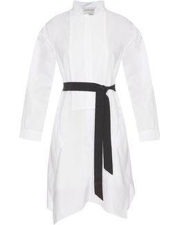 Mandarin Collar Cotton-poplin Dress