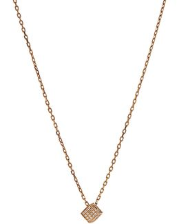 Cube Diamond & Yellow-gold Necklace