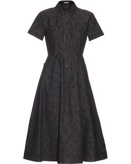 Meadow-print Button-through Dress