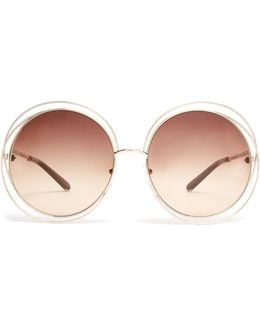 Carlina Round-framed Sunglasses