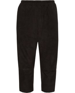 Roy Suede Cropped Trousers