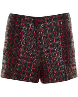 Coated-tweed Tailored Shorts