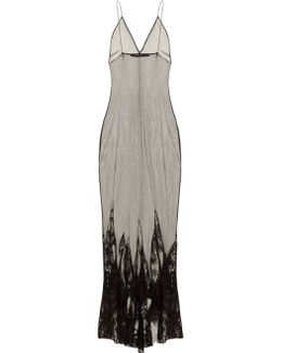 Taranis Mesh Overlay Cocktail Dress
