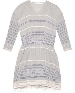 Almaz Striped Cotton-blend Dress