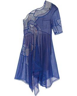 Noah One-Shoulder Embroidered Cotton-Blend Dress