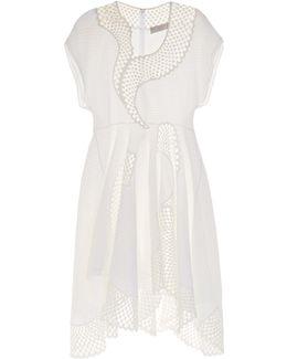 Clotilde Short-sleeved Embroidered Dress
