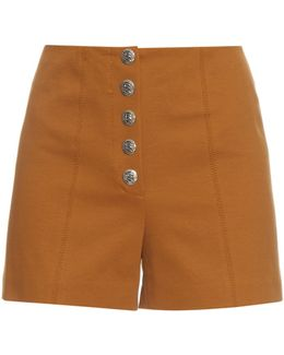 70s Stretch-cotton Shorts