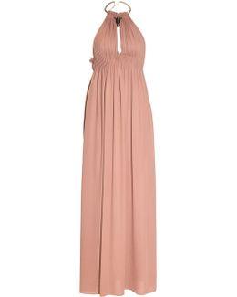 Halterneck Silk-crepe Gown