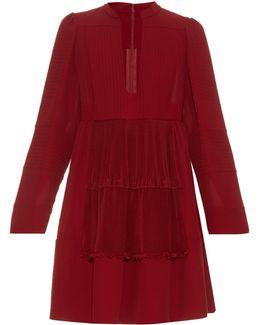 Open Neck Silk-georgette Dress