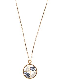 Diamond, Sapphire & Yellow-gold Necklace