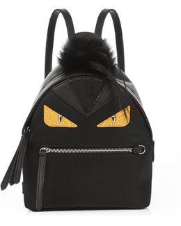 Bag Bugs Mini Nylon And Fur Backpack