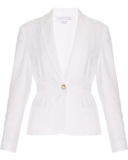 White Gavyn Stretch-Cotton Jacket
