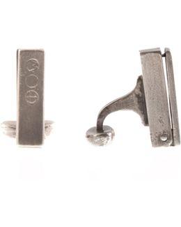Sterling Silver Locket Cufflinks