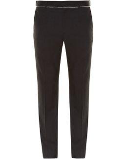 Slim-fit Raw-edge Trousers