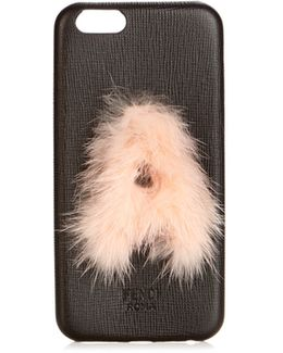 A Mink-fur And Leather Iphone® 6 Case
