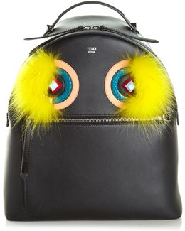 Bag Bugs Leather And Fur Backpack