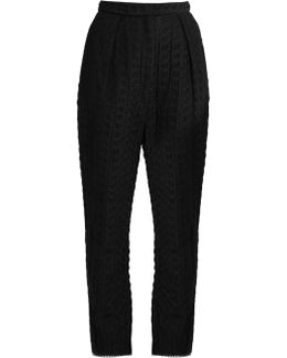 Zephyr Embroidered Cotton And Silk-blend Trousers