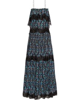 When I Close My Eyes Lace-trimmed Maxi Dress