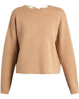 Double-faced Cashmere-knit Self-fastening Sweater