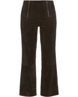 Arrow Suede Cropped Trousers