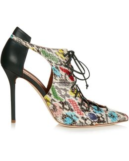 Montana Snakeskin And Leather Pumps