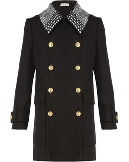 Charles Detachable-collar Double-breasted Coat