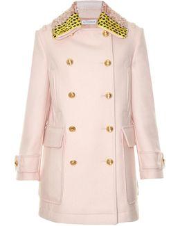 Charles Detachable-collar Wool-blend Coat
