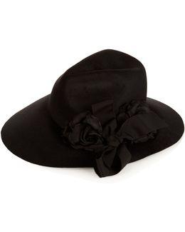 Asymmetric Fur-felt Wide-brim Hat